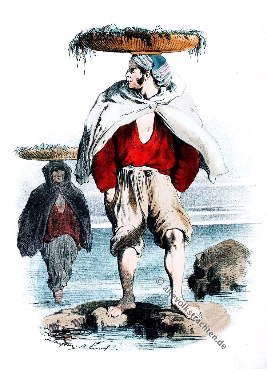 Sardinenfischer, Morbihan, Bretagne, Belle-Isle-en-Mer, Trachten, Historische Kleidung, Modegeschichte, Kostümgeschichte,