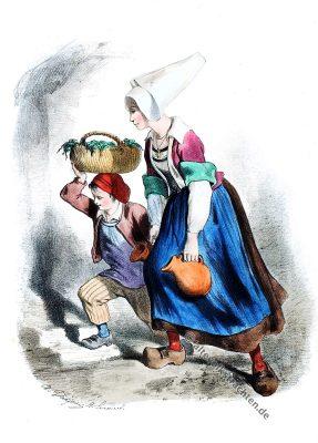 Corlay, Bretagne, Côtes d'Armor, Volkstrachten , Trachten, Historische Kleidung, Kostümgeschichte, Modegeschichte,