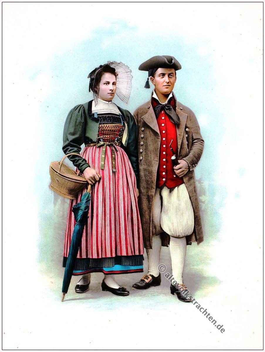 Wehntaler Trachten, Wehntal, Schweiz, Kanton, Zürich, Kostümgeschichte