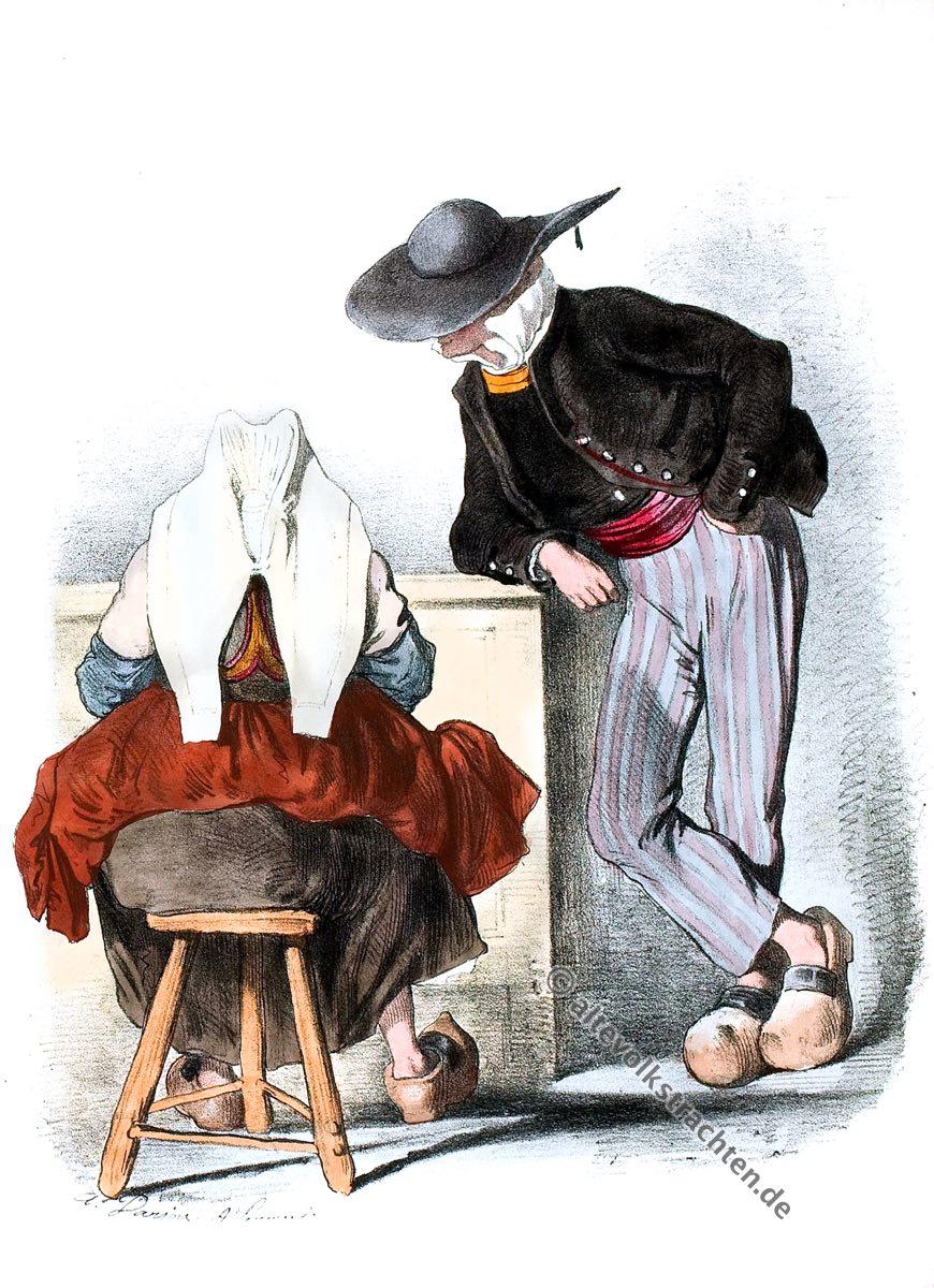 Auray, Bretagne, Trachten, Kostüme, Historische Kleidung, Kostümgeschichte, Modegeschichte,