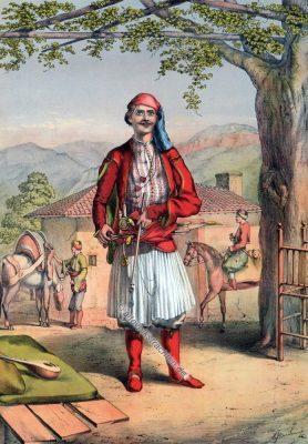 Albanische Garde, Albanien, Osmanische Trachten, Osmanisches Reich, Historische Kleidung, Türkei, Kostümgeschichte