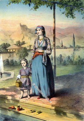Türkische Frau, Osmanische Trachten, Osmanisches Reich, Historische Kleidung, Türkei, Kostümgeschichte