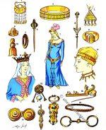 Schmuck und Juwelen der Gallier und Merowinger.