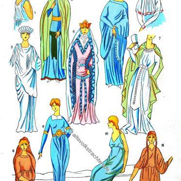 Kelten, Gallien, Kostüme, Modegeschichte, Kostümgeschichte, Tunika, Merowinger, Gallien, Modegeschichte, Historische Kleidung, Paul-Louis de Giafferri