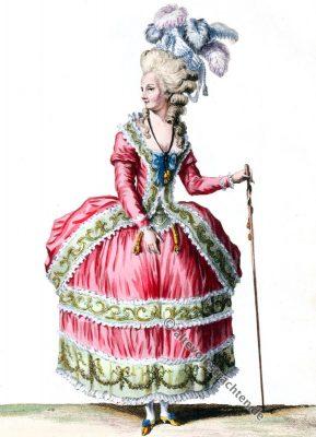 Robe, Circassienne, Rokoko, Modegeschichte, Kostümgeschichte, 18. Jahrhundert