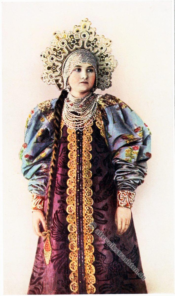 Bauerntracht, Archangelsk, Russland, Charles Holme