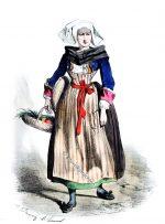 Kostüm von Châteaulin. Bretagne 1865.