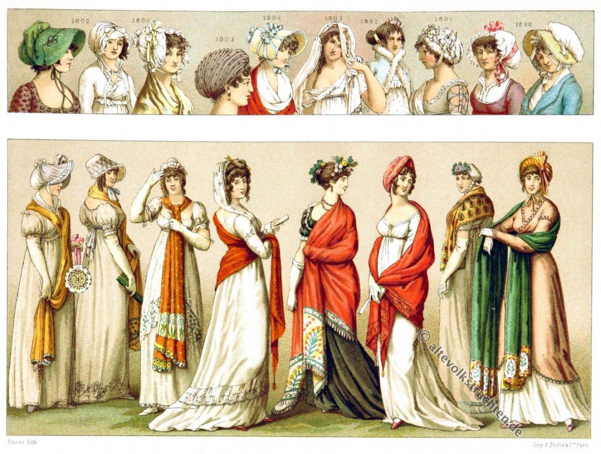 Empire, Mode, Kostüme, Frisuren