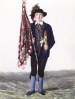 Der Hochzeitslader, Progoder. Slowakei um 1870.