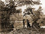 Camp, Laloki, River, natives, Papuasia, Papua New Guinea, J. W. Lindt,