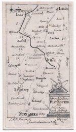 Postrouten zwischen Leipzig u. Nürnberg 1796