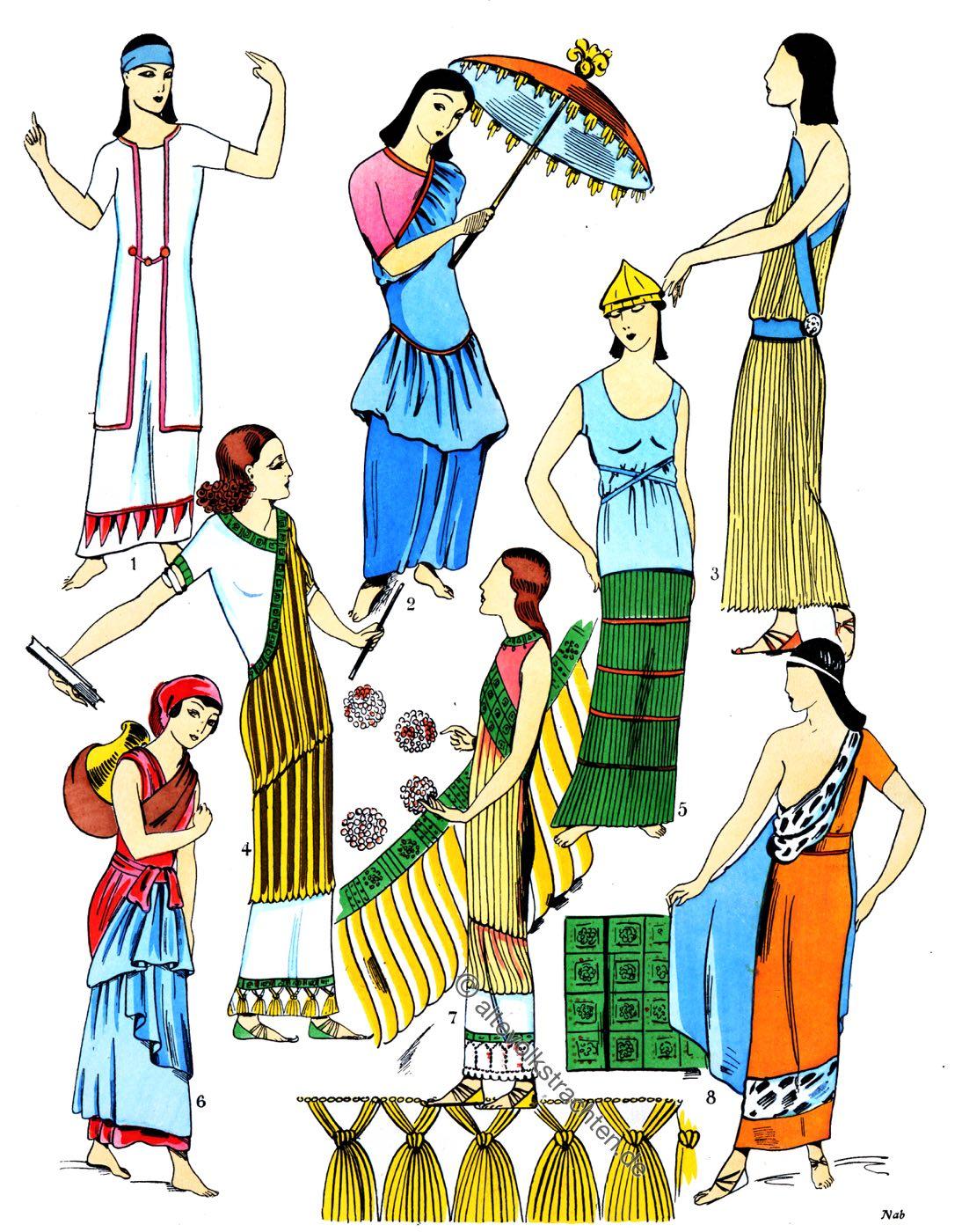 Assyrien, Mesopotamien, Kostüme, Röcke, Trachten, Antike, Kostümgeschichte, Paul Louis de Giafferri
