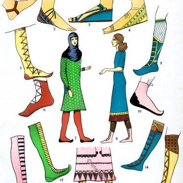 Assyrien, Mesopotamien, Schuhe, Sandalen, Stiefel, Trachten, Antike, Kostümgeschichte, Paul Louis de Giafferri