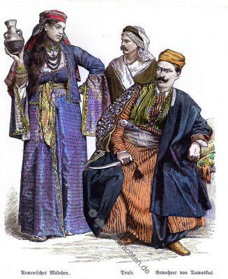 Druse, Damaskus, Trachten, Kostüme, Münchener Bilderbogen, Kostümgeschichte,