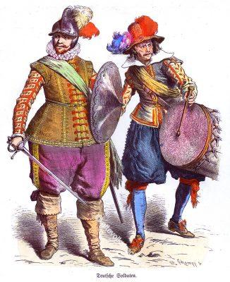 Soldaten, Landsknechte, Deutschland, Infanterie, Trommler, Renaissance, 16. Jahrhundert