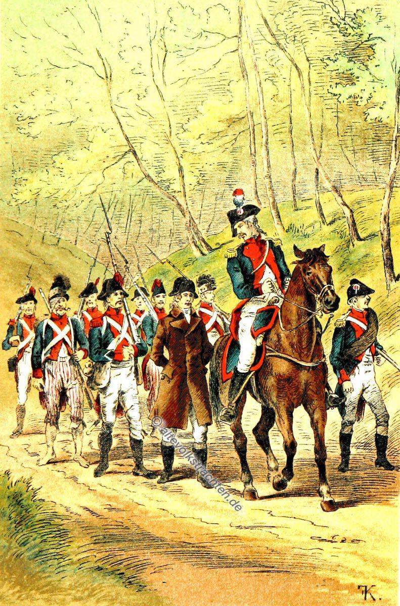 Frankreich, Nationalgarden, Uniform, Soldaten, Revolution
