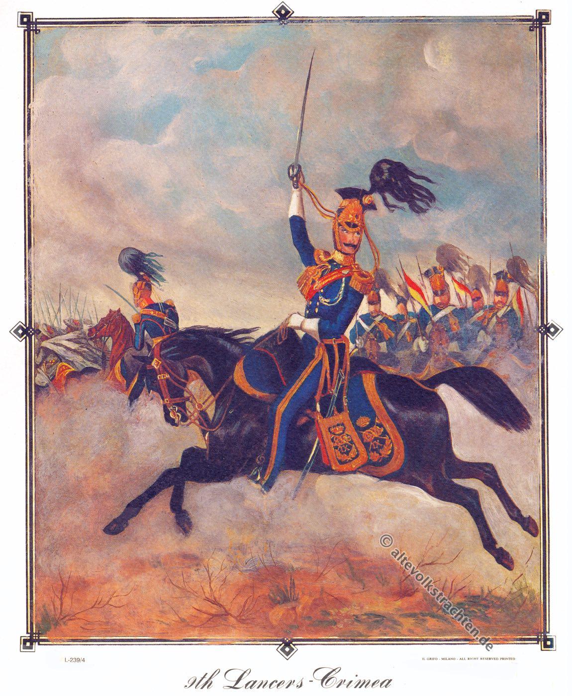 9th Queen's Royal Lancers, Uniformen, Militär, Regiment, Dragoner, Kavallerie