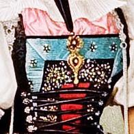 Amulett, Aargauer Tracht, Detail