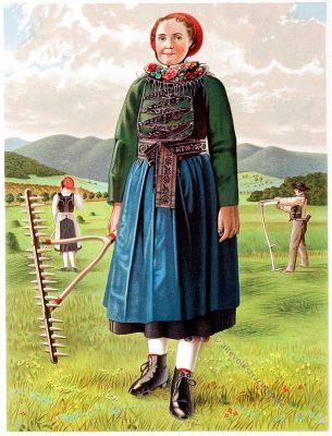 Breidenbach, Hessen, Trachten, Trachtenbuch, Volkstracht, Deutschland, Folklore
