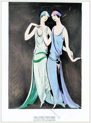 Annie Offterdinger, Illustration, art-deco 1920er, mode, kostüme