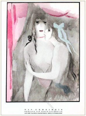 Marie Laurencin, Galerie, Flechtheim, Düsseldorf, Berlin, STYL Modemagazin, 1920er, Modegeschichte, Art deco,