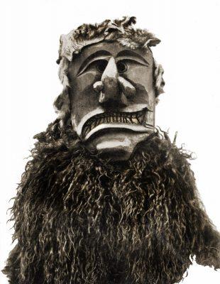 Tschägättä, Maske, Mask, Lötschental, Kanton Wallis, Schweiz, Fastnacht, Fastnachtsfiguren, Brauchtum