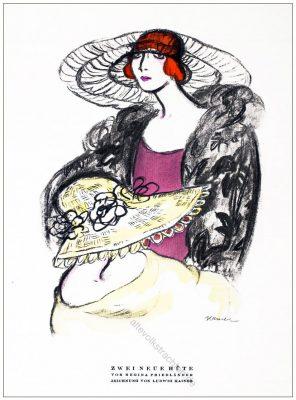 Regina Friedländer, Hüte, Ludwig Kaiser, Styl, Modemagazin, 1920er, Modegeschichte, Art deco,