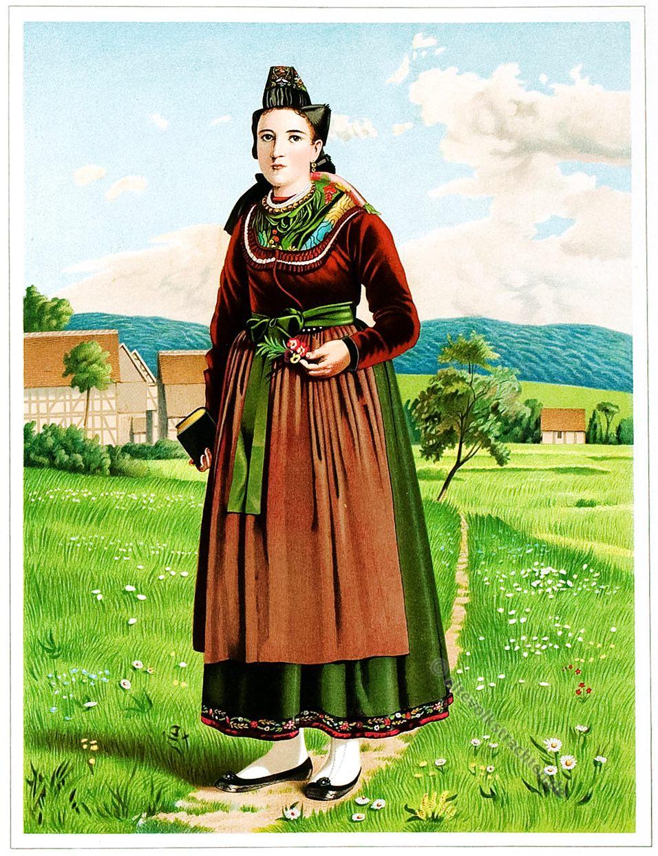 Selbach, Waldeck, Hessen, Trachten, Trachtenbuch, Volkstracht, Deutschland, Folklore