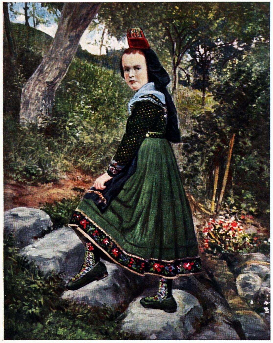 Trachten, Hessen, Marburg, Rose Julien, Kostümkunde, Modegeschichte