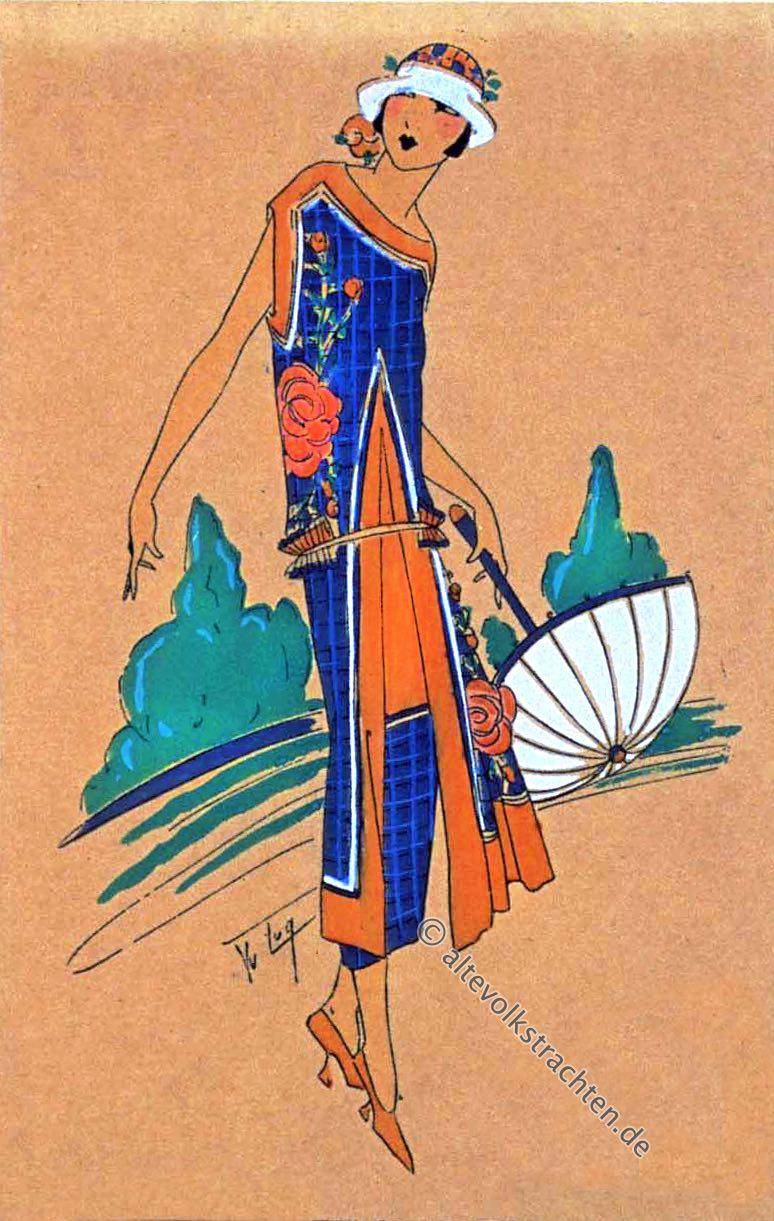 Roaring Twenties, Très Parisien, Mode, 1920er, Kostüme, Art-Deco, Germaine Paule Joumard