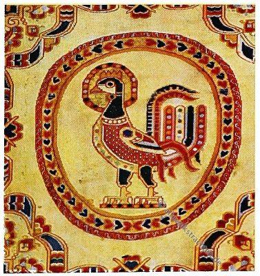 Hahnenstoff, Persien, Antike, Textilien, Stoffe, Muster, Gewebe, Webkunst
