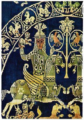 Sassaniden, Persien, Jagdstoff, Antike, Textilien, Stoffe, Muster, Gewebe, Webkunst, Jagdmotiv