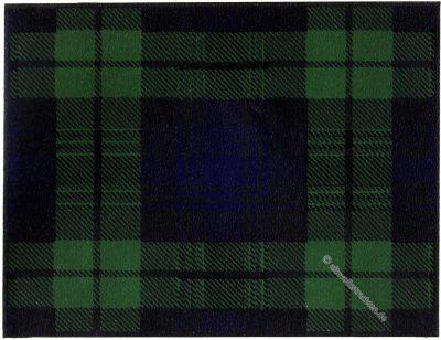 Sutherland, Clan, Tartan, Modern, Highlands, Scotland, Schottland