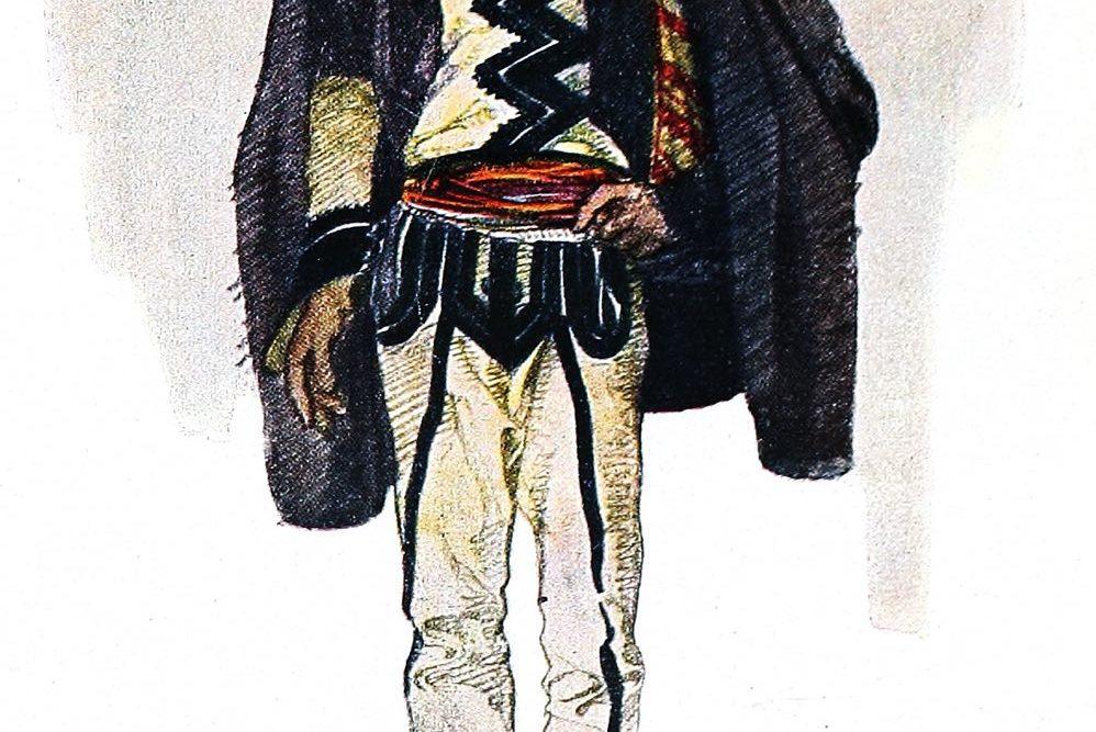 Skutari, Shkodra, Tracht, Volkstracht,Hochlandtracht, Albanien, Volkskunst, Balkan, Arthur Haberlandt