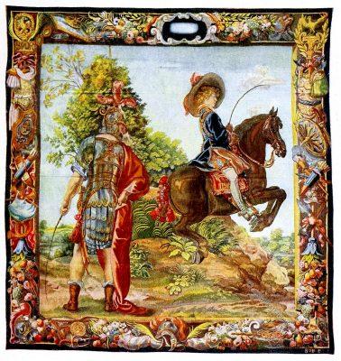 Gobelin, Barock, König, Ludwig, Kunsthistorie, Gobelinsammlung, Gobelins, 17. Jahrhundert, Wien
