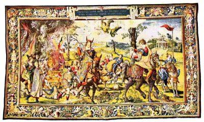 Gobelin, Renaissance, Gobelins, Kunsthistorie, Gobelinsammlung, Textilgemälde, Bildteppiche, Bildwirkerkunst, Brüssel, 16. Jahrhundert