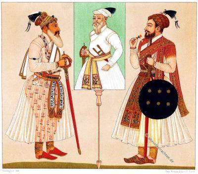 Radschputen, Racinet, Indien, Trachten, Kostüme, Modegeschichte