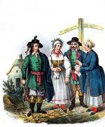Kujawier. Polnische Landleute aus Kujawisch Brest.