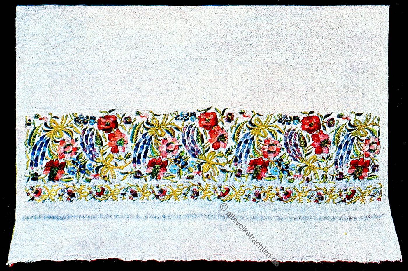 Makedonien, Stickereien, Volkskunst, Stickerei, Goldstickerei, Seidenstickerei, Balkan, Handtuch