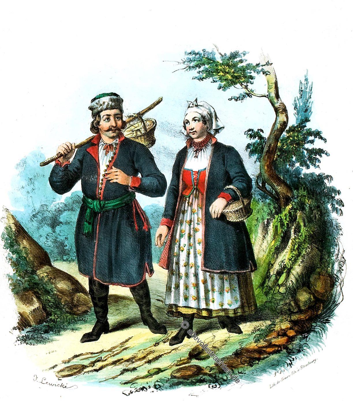 Podgórze, Podgórza, polen, Trachten, Bauerntrachten, Kostüme, Landleute