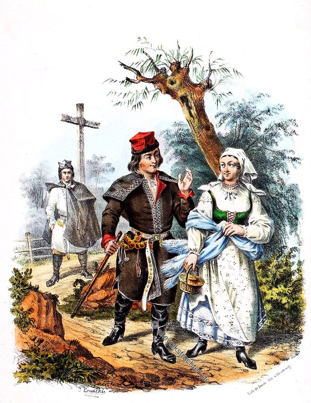 Skalbmierz, Trachten, Szkalmierzacy, Polen, Szkalmier, Landleute, Bauerntrachten
