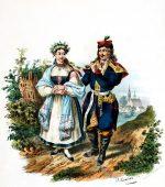 Krakowiacy Trachten aus der Umgebung von Krakau.