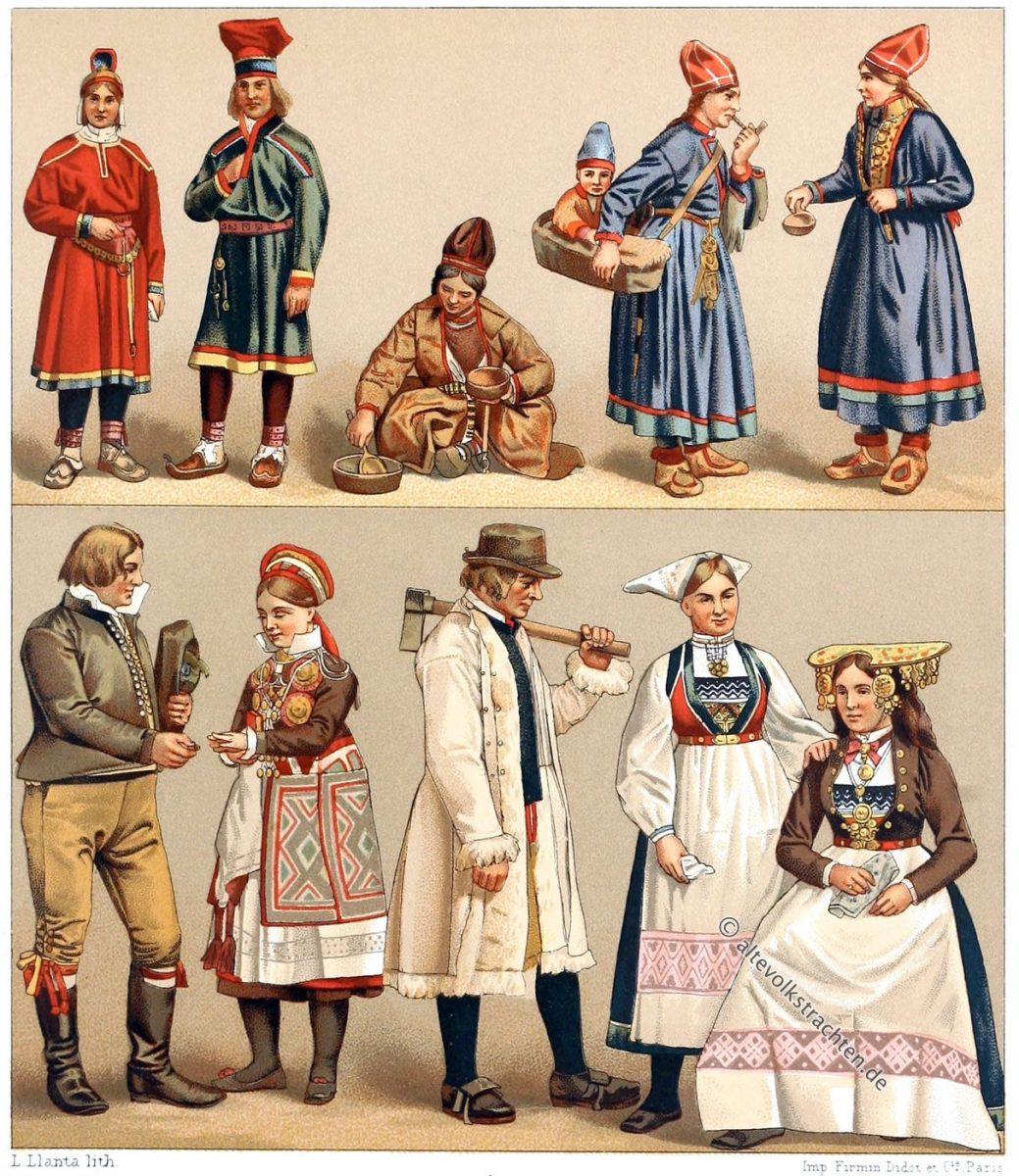 Trachten, Lappland, Schweden, Norwegen, Auguste Racinet