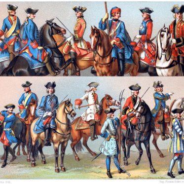 Militäruniformen, Uniformen, Frankreich, Colonel-Général, Cavallerie, Chevauxleger, Musketiere, Carabiniere, Dragoner, Maréchaussée