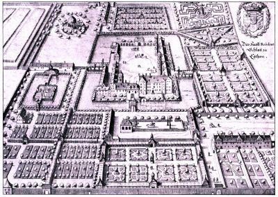 Cöthen, Merian, Topographia, Kupferstich, Rennaisance, Architecture, August Grisebach,
