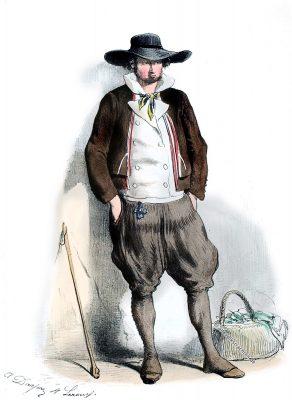 Escoublac, Bauerntracht, Bretagne, Kostüm, Tracht, Frankreich