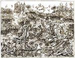 Garden, Love, Meister, Liebesgärten, Flemish, engraving