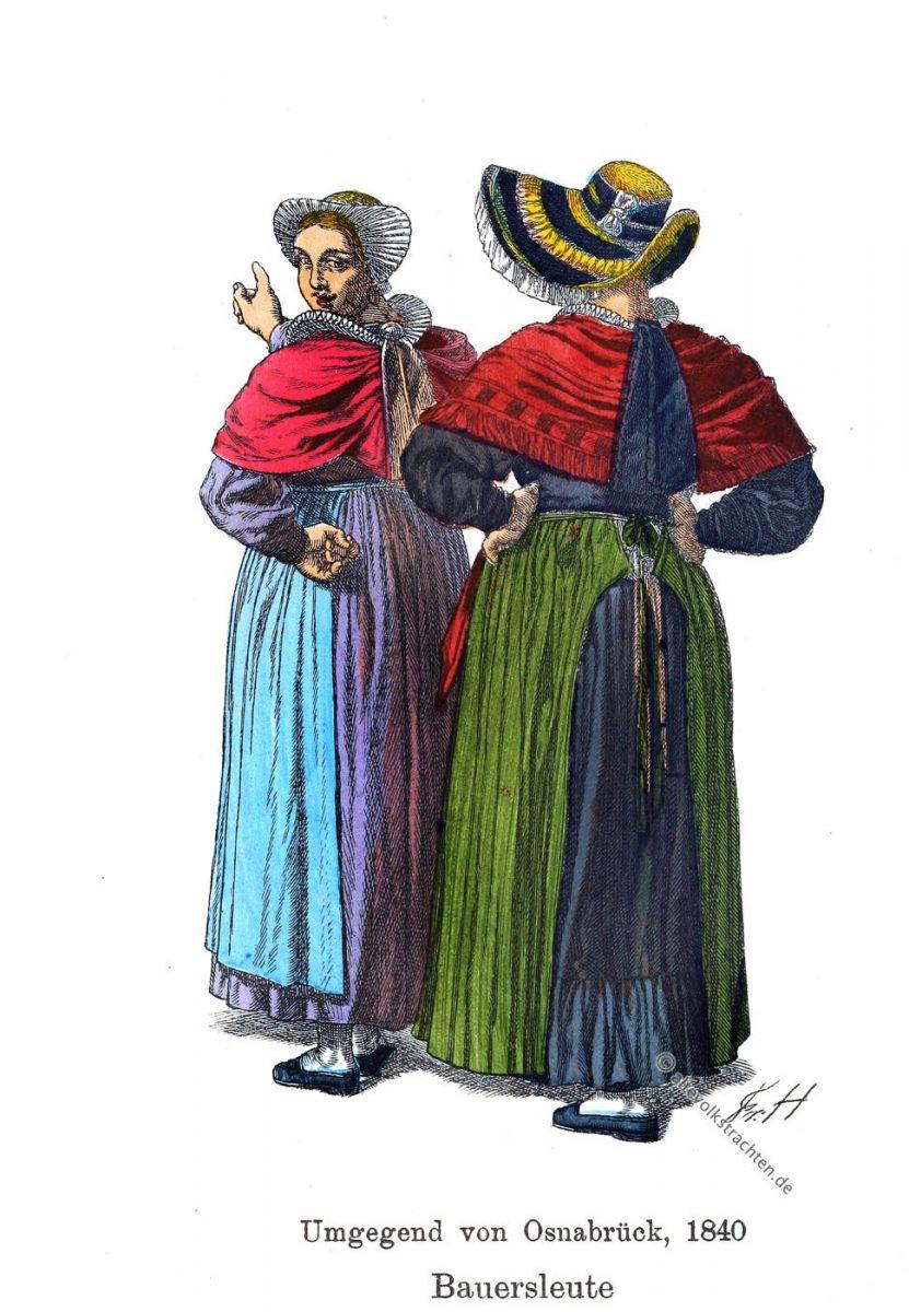 Osnabrück, Niedersachsen, Bauerntrachten, Kostüme, Friedrich Hottenroth