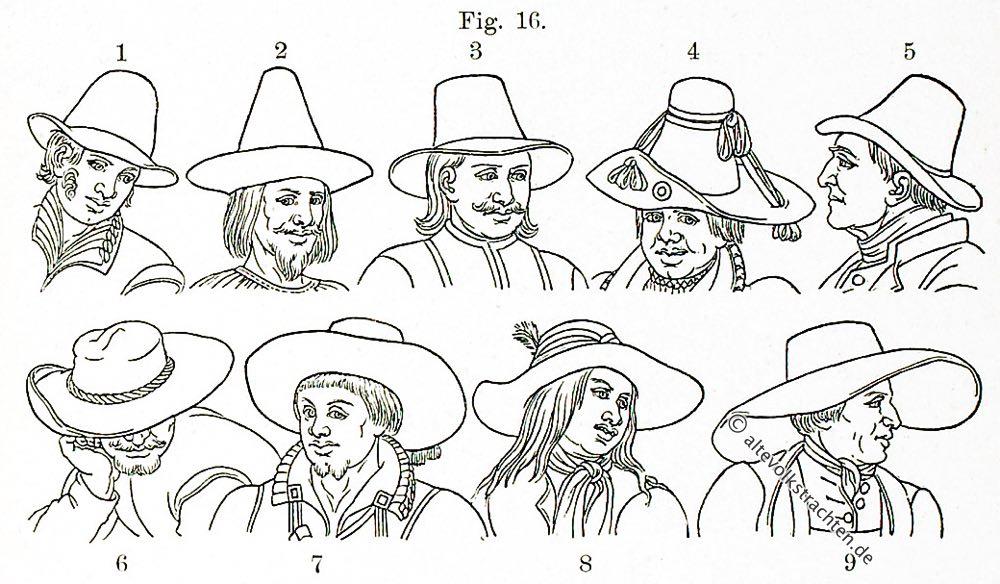 Die Bauerntrachten vom 16. bis 19. Jahrhundert.   Volkstrachten