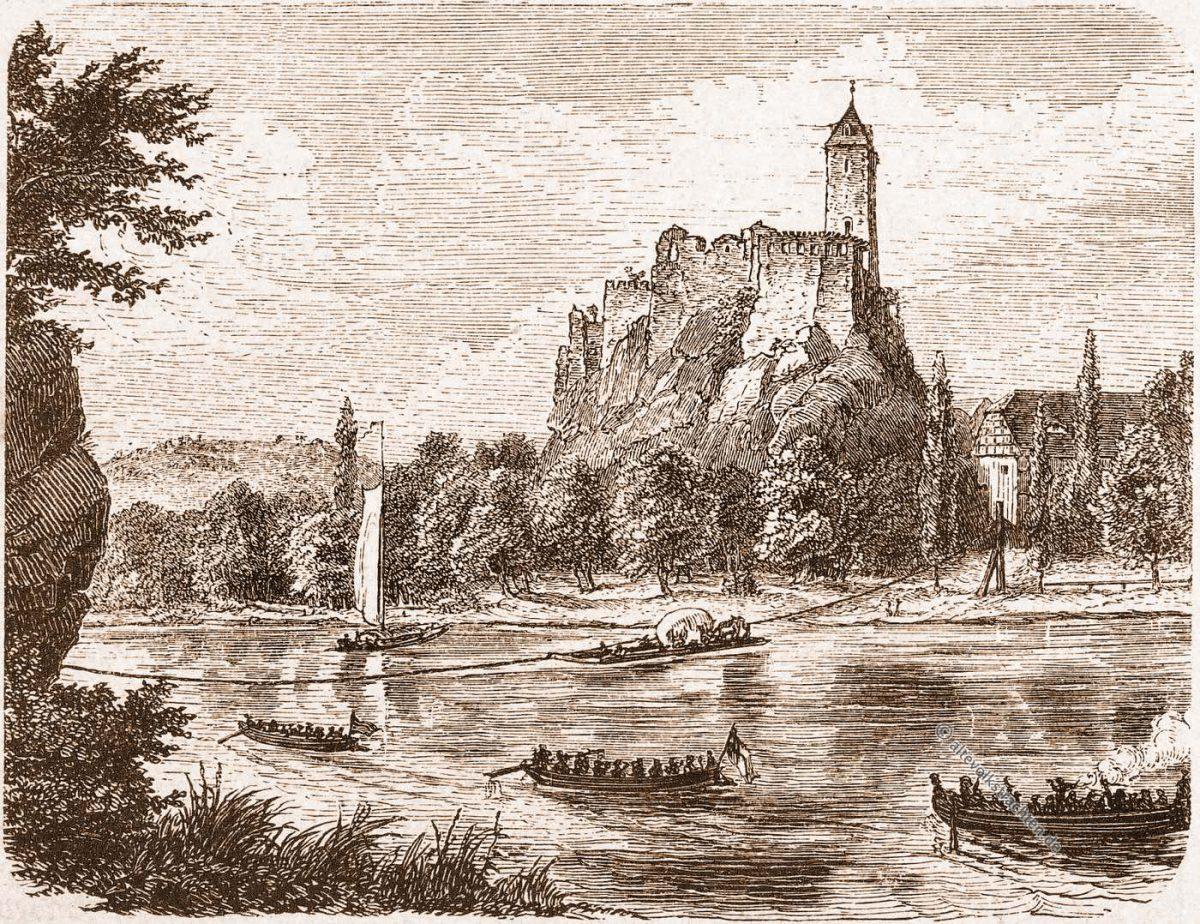 Giebichenstein, Sachsen, Kunstschule, Romanische, Straße, Burg, Schloss, Kunsthochschule, Halle